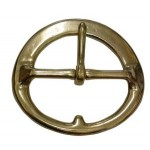Round Cinch Buckle Brass