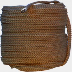 Flat Braided Cotton Rope 1 (25mm)brown