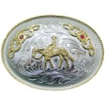Buckle Horse and Rider  3 X 4
