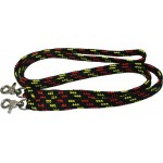 Reins 7ft Black/yel/red Npdc Snap One Pc